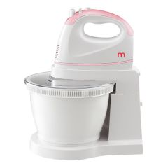 Mistral Hand Mixer with Rotary Bowl MHM502-Pink