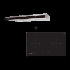 75 cm 2 Zone Hybrid Induction Hob + 90 cm Slimline Hood Cooking Package