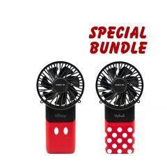 Disney x Mistral Mimica Cool Breeze Rechargeable USB Fan (Bundle of 2)