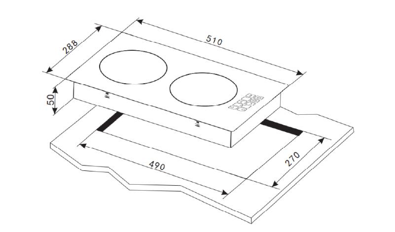 Installation Diagram for Mayer MMIH302HS